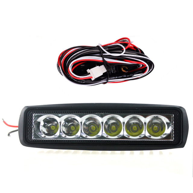 iztoss led work light 18w of 6 lights spot driving lamp waterproof fog  lights with wiring