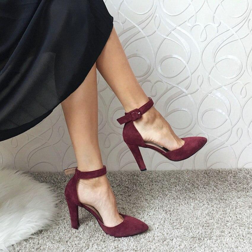 Fiesta Mujeres Partin Zapatos De Cuadrada Vino Puntiagudo Boda Alto Rojo as Super Pics As Moda Mujer Tacón Pie Bombas Del Dousin Dedo Damas Pics q40x54