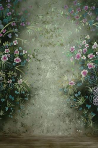 10x20ft/3x6 m peint À la Main printemps Mousseline scénique photo Milieux Studio de Photographie Décors fleur Mousseline Toile de Fond de mariage
