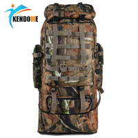 Outdoor 100L Large Capacity Mountaineering Backpack Camping Hiking Military Molle Camo Water repellent Tactical Bag Adjustable