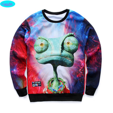 newest youth brand 3D Extraterrestrial printed hoodies boys teens Spring Autumn thin sweatshirts big kids sweatshirts W14