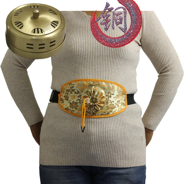 Neck Moxibustion Moxibust Bag Copper Box Massager Warming Massage Therapy Treatment For Leg Arm Abdomen Tool Health Body цена