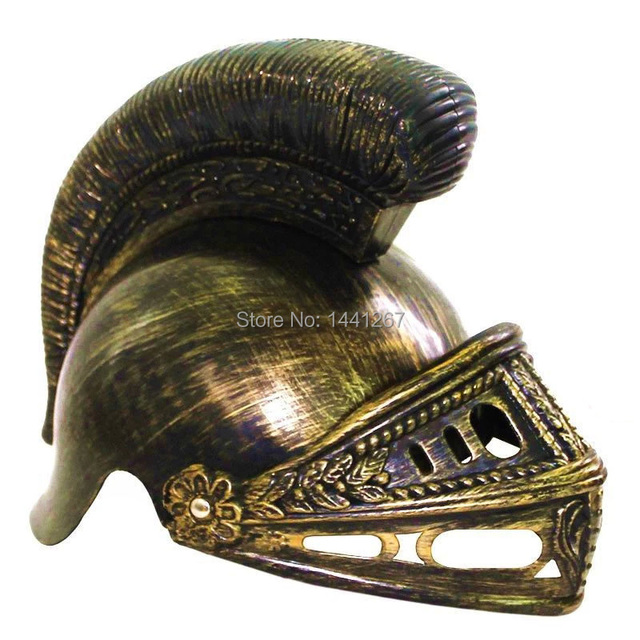 Plastic COSPLAY Masquerade Roman Helmet Hat Spartan Helmet Roman Warrior Golden/Silver Helmet For Children Hot Selling
