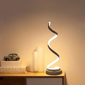 Kreatywne Projektowanie Spiral Nowoczesny Stół Akrylowe Lampy Stołowe Do Sypialni Obok Lampa Domo