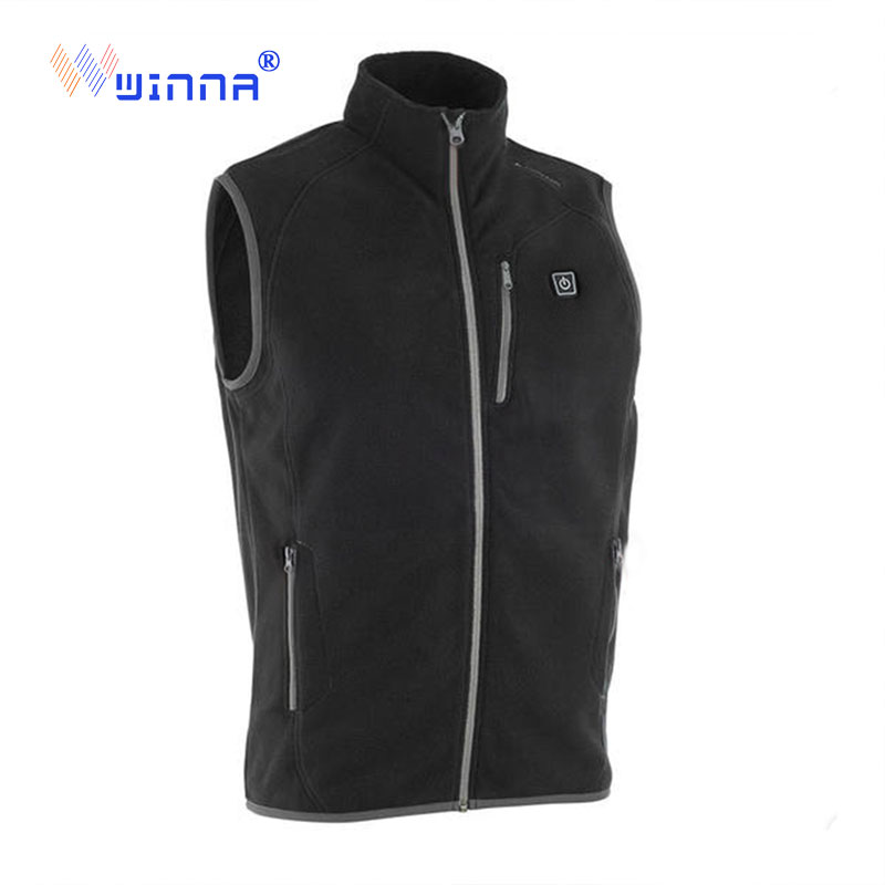 New USB Charging Heating Vest Winter Men s Vest Fleece Thick Soft Waistcoat to keep warm