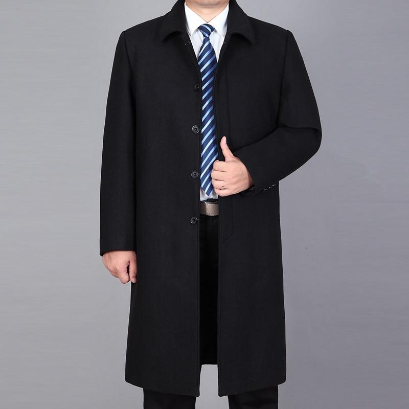 2020 New Arrival Men Woolen Coat Winter Long Coat Men Pea Coat Winter Jackets Autumn Mens Wool Blend Overcoat Trench Coat Man
