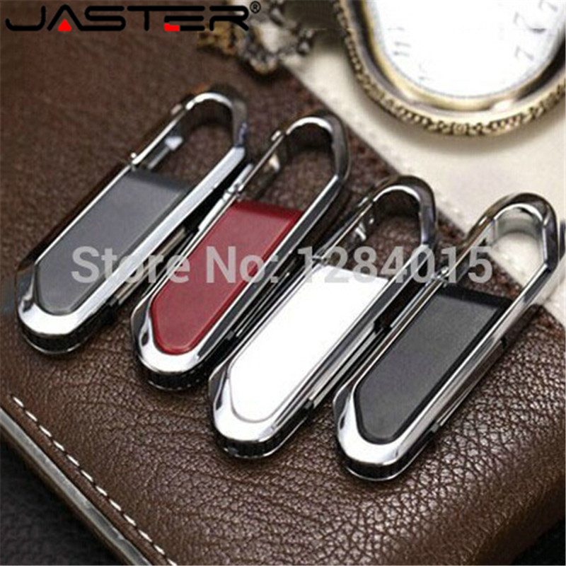 JASTER Fashion Hanging Buckle USB Flash Drive Pendrive 4GB/8G//16G/32G Pen Drive Pendriver Gift Fashion Key Chains Gift