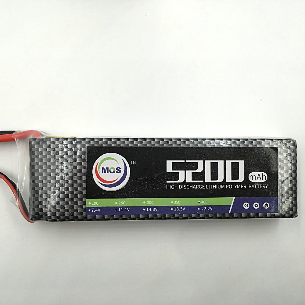 MOS 11.1v 5200mah 30c lipo battery for rc airplane free shipping 2pcs package mos 3s lipo battery 11 1v 1300mah 35c for rc airplane free shipping