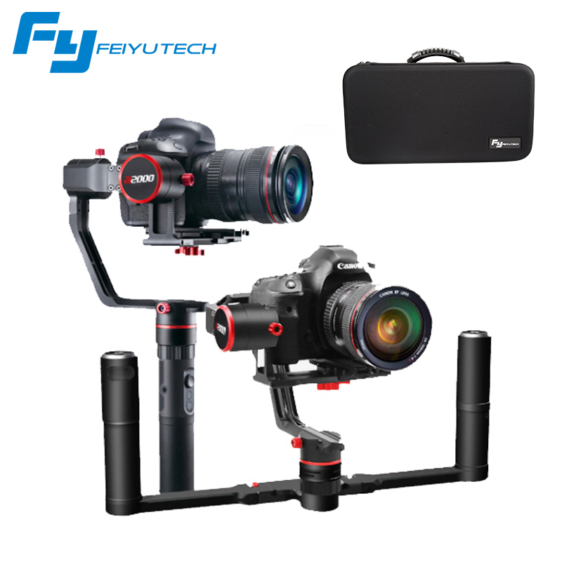 FeiyuTech FEIYU a2000 3 Axis Gimbal DSLR Camera Stabilizer Dual Single Handheld Grip for Canon 5D SONY Nikon 2000g Payload 12mp 980 mah handheld steadygrip 4k camera 3 axis gimbal x3 for osmo kit