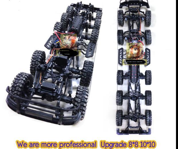 110 Scale Remote Control Off Road Crawler Truck 10 Wheels Drive 10