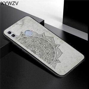Image 1 - Huawei Honor 10 Lite Shockproof Soft TPU Siliconen Doek Textuur Hard PC Telefoon Case Voor Honor 10 Lite Cover Voor honor 10 Lite