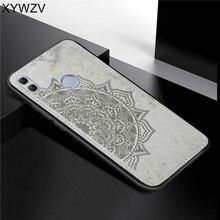 Huawei Honra 10 Lite Textura De Pano À Prova de Choque TPU Macio Silicone Caso Telefone PC Duro Para Honra 10 Lite Capa Para honra 10 Lite