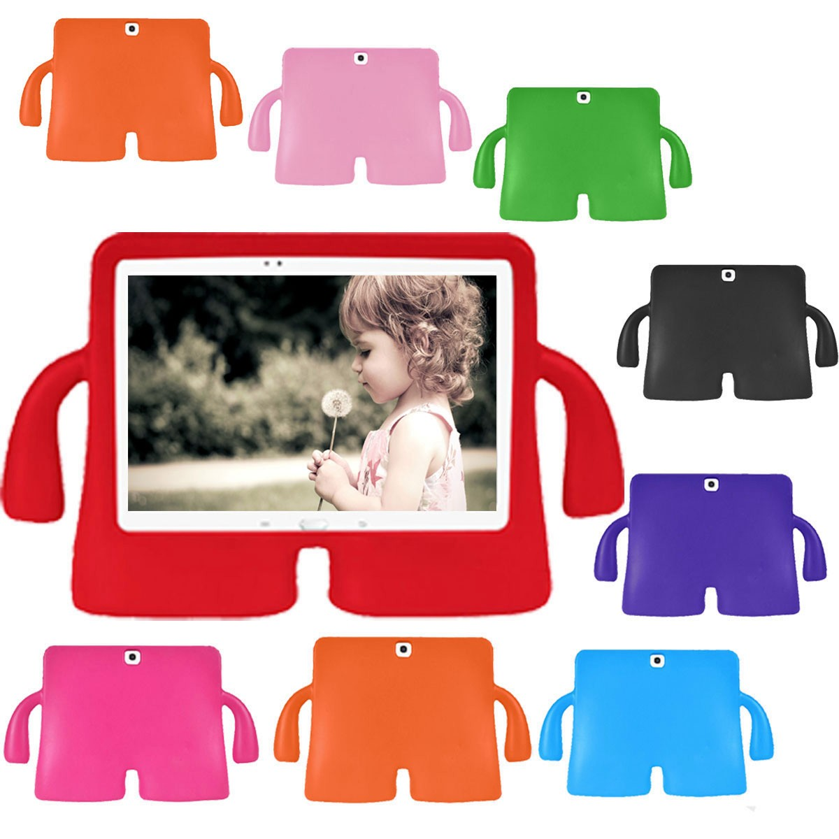 8 Color Little Giant Series Cover Cases Protect for Samsung for Galaxy Tab 3 universal for Pads 10.1 inch Kid e-Book Tablet PC