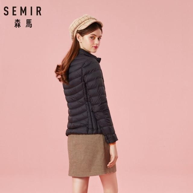 SEMIR 2019 Down Winter Jacket Women Cotton Short Jackets New Down Padded Hooded Warm Autumn Slim Coat Female Casual Tops 3