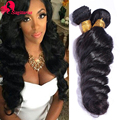 Malaysian Virgin Hair Loose Wave 4 Bundles 8A Unprocessed Malaysian Hair Loose Wave Virgin Hair Human Hair Bundles Natural Black