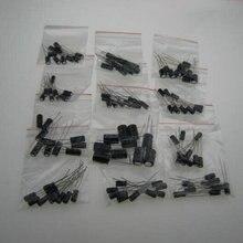 120pcs 12 values 0.22UF-470UF Aluminum electrolytic capacitor assortment kit set pack