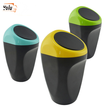 YOLU Car Trash Garbage Durable Auto Can Automotive Waste Storage Mini Home Office Vehicle