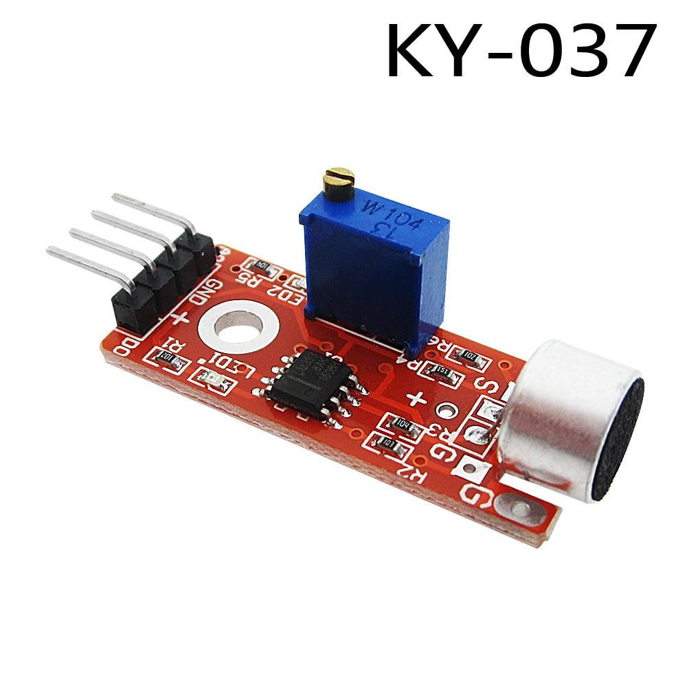High Sensitivity Sound Microphone Sensor Detection Module For AVR PIC KY-037 1PCS lm393 chip 4pin 760 1100nm 1ch flame detection sensor module