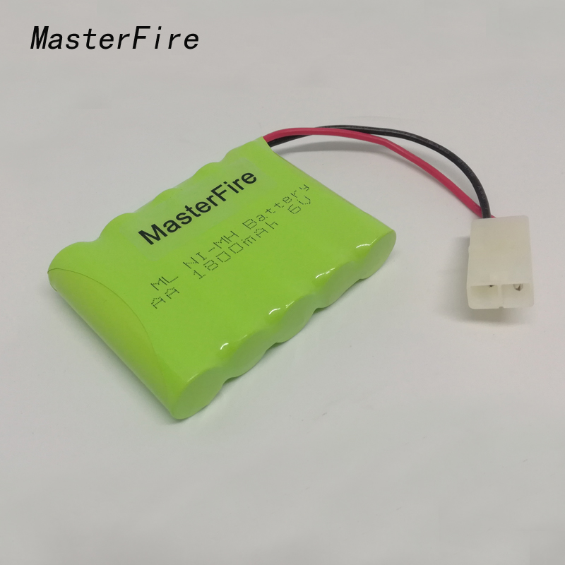 MasterFire 10 paquets/lot tout neuf 6V AA 1800mAh Ni-Mh batterie Rechargeable NiMH Batteries paquet avec prise