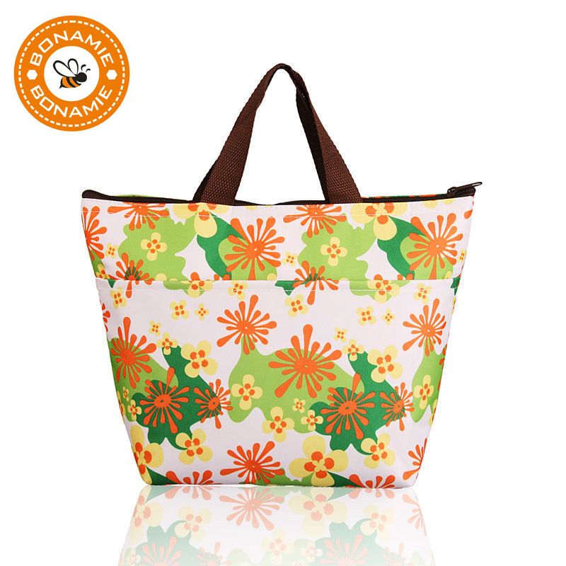 BONAMIE Mom Protable Oxford Cooler Box Insulated Thermal LunchBag for Women Kid Carry Tote Storage Travel