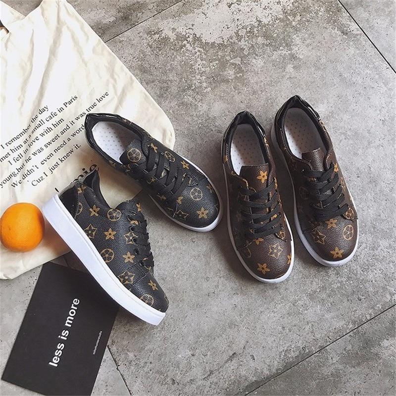 Brun Noir En Sneakers Nouveau Designer Zapatos Cuir Classique Espadrilles Casual Étoiles Printemps Mujer automne Chaussures marron Femmes nSFnCHqPZ