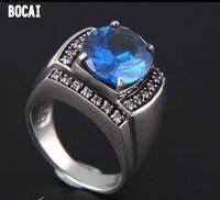 Новый Тайский Серебряный для мужчин и женщин Широкая поверхность кольца 925 серебро кольцо из черного оникса классическое кольцо Джастин