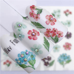 Image 2 - LCJ 32 Styles Available  Flower Nail Stickers Water Transfer Decals Decoration Dream Cather Slider For Nail DIY Tips