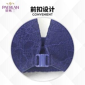 Image 2 - Paerlan underwear bra push up sexy sutiã frontal encerramento copo grosso verão rendas confortável fio livre mulher ajustada correias de uma peça