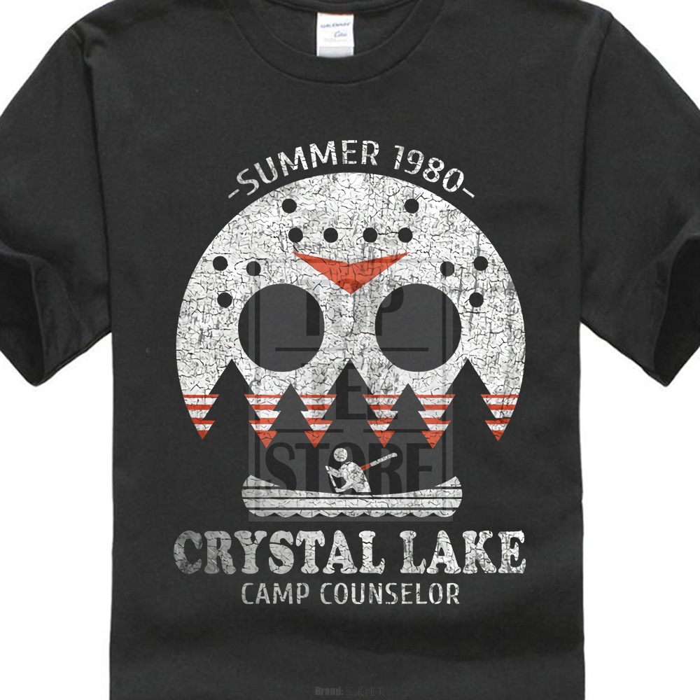 ad0021aef477 Crystal Lake Camp Counselor T Shirt The 13 Friday Jason Horror 13Th Fun