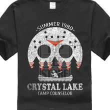 9e4179641 Crystal Lake Camp Counselor T Shirt The 13 Friday Jason Horror 13th Fun Male  Battery Funny