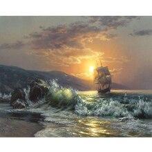 изображение волны картина с изображением моря по номерам Современная Настенная живопись ручная роспись мас