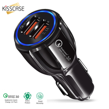KISSCASE QC 3.0 Super Car USB Charger Mobile Phone Dual Fast For iPhone Samsung Huawei Chargers