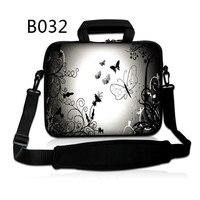Silver Butterfly Fashion 7 10 12 13 15 17 Laptop Shoulder Bag Handbag For Laptop Tablets