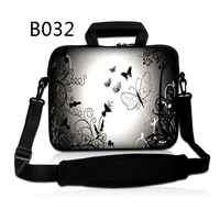 Silver Butterfly Fashion 7 10 12 13 15 17 Laptop Shoulder Bag Handbag For Laptop Tablets