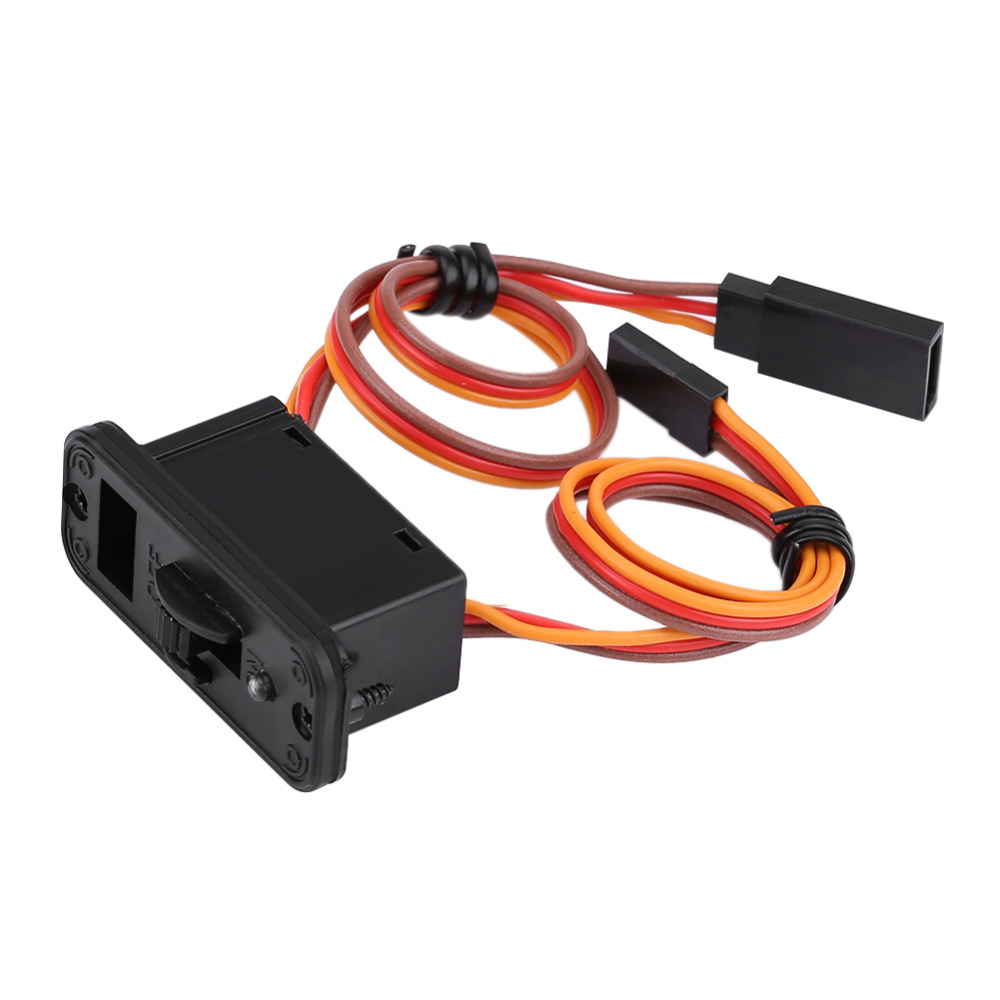 New RC Switch Connectors 1Pc Heavy Duty RC Switch With LED Display JR RC On Off Connectors Accessory For Receiver RC Accessories