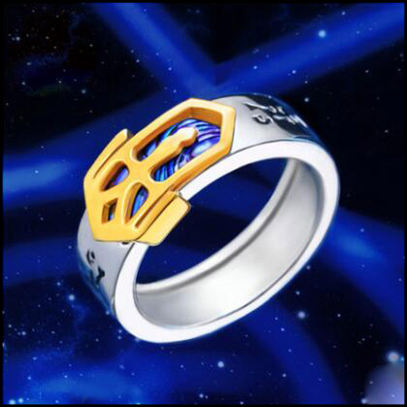 Cosplay Cartoon AnimeFate Stay Night Ring Saber Holy Sword Logo Ring 925 Silver Jewelry for Boyfriend Girlfriend Birthday Gift titanium ring