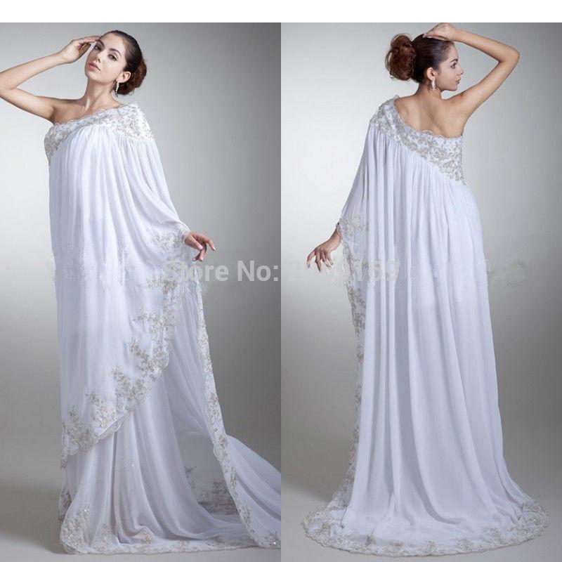 Robe De soirée Longue élégante Appliques dentelle blanche une épaule robes De soirée 2019 longues femmes Robe formelle Abendkleider