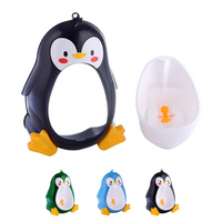 Baby Urinal Cartoon Penguin Baby Potty Training Boys Pee Trainer Kids Bathroom Urinal Trainer Bathroom Small