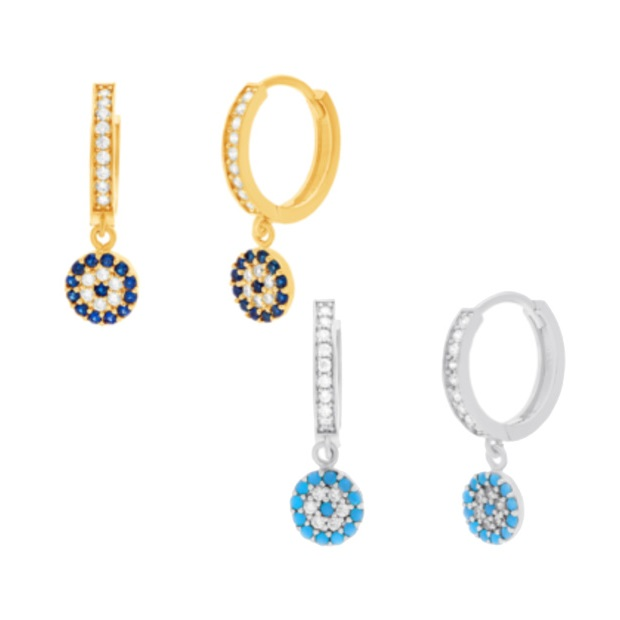 Fashion Gold-color blue turquoises Zircon CZ Drop Dangle Earrings for Women Fashion Dainty clip on girl Dangle Earring Jewelry smeg sta6539l 2