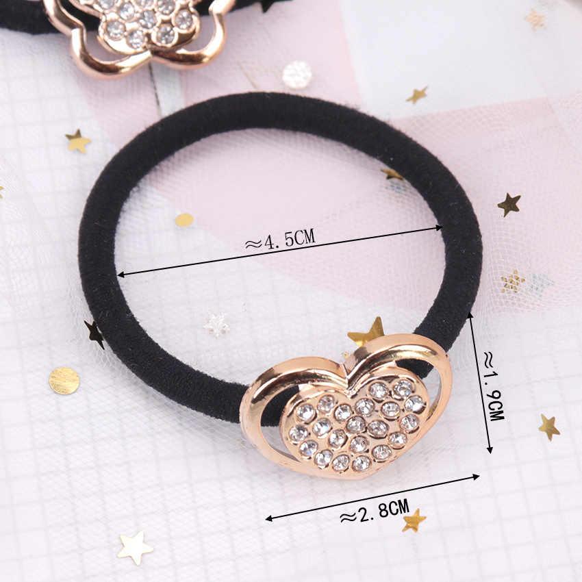 3PCS New Korean Fashion Women Hair Accessories Crystal Elastic Hair Bands Girl Hairband Hair Rope Gum Rubber Band Headwear