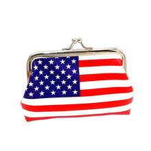 Wallet For Coins Wallet Purse Coin Zipper Purse Girls American Flag Change Pouch Porte Monnaie Enfant(China)