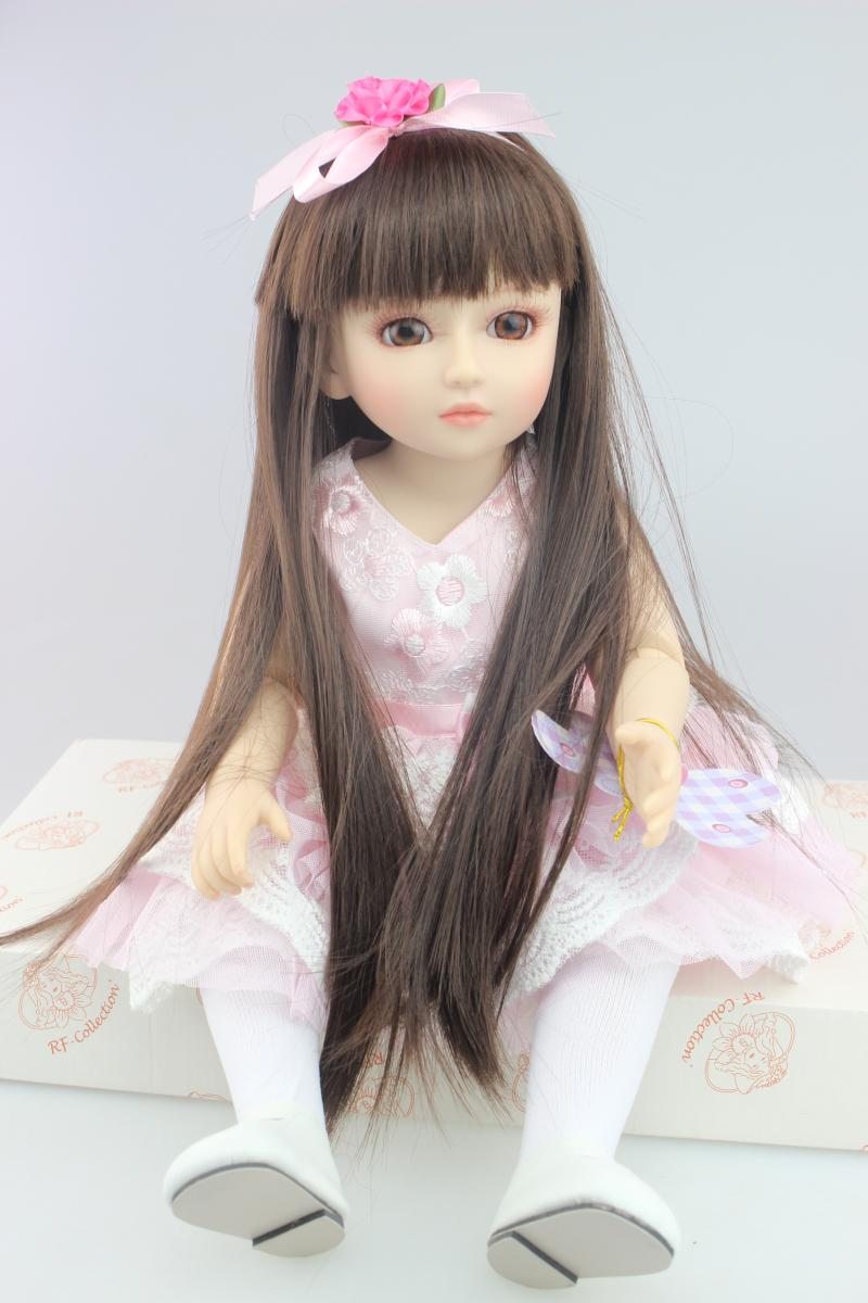 Cute SD BJD 1/4 doll toy for kid baby new year gifts Vinyl lifelike play house toys girl brinquedos girl joint simulation dolls 1 4 scale bjd lovely cute bjd sd human body kid serin