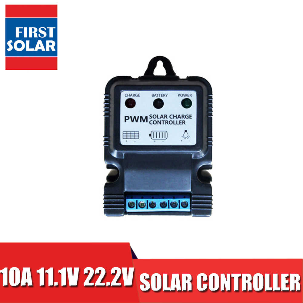 10A Solar Charge controller 3.2 3.7 6.4 12.8 25.2 12 24 V Li-ion Lithium 3s 6s Battery charger Regulators PV Street light lamp