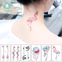 New 2018 Beauty Women Tattoo Designs of Flowers Dreamcatcher Dolphin Mermaid Fake Body Temporary Stickers 10.5x6cm