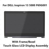 13,3 ''ЖК дисплей панель сенсорного стекла установка преобразователя экрана Рамка для DELL Inspiron 13 5000 P69G P69G001 Full HD B133HAB01.0
