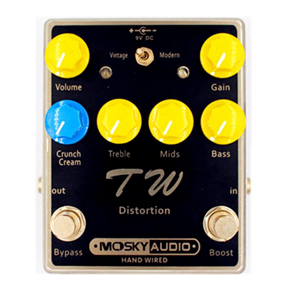 Mosky TW distorsion guitare effet pédale Mini Overdrive effet pédale avec trois bandes EQ guitare pièces & accessoires