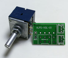 Potenciômetro estéreo registo volume rk27, 2 gang, dual 10k/20k/50, 1 peça eixo slotted eixo + pcb k/100k/250k/500k