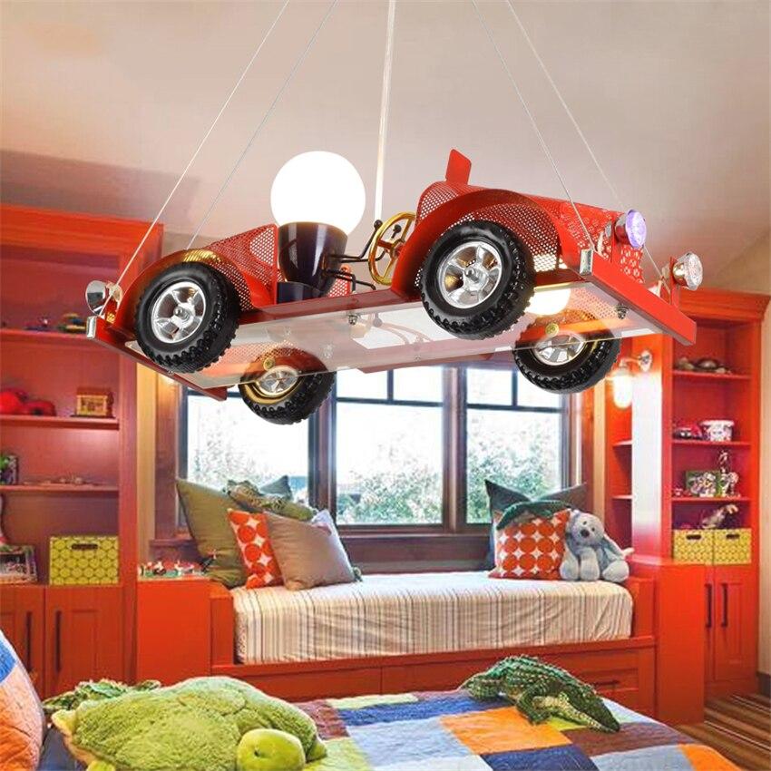 Детский подарок на день рождения Модель автомобиля подвесные светильники детская спальня освещение игровых площадок подвесной фонарик, Ро
