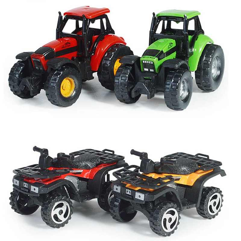 Kids Diecasts Vehicles Motorcycle Cars Children Boys Gifts Beach Motorcycle Simulation Farmer Sliding Toys Car Model
