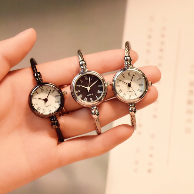 2018 women's fashion bracelet quartz watch women stainless steel ulzzang luxury